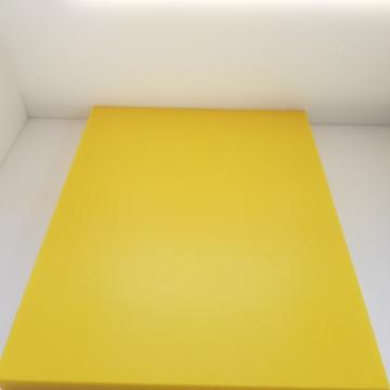 1x Schneidbrett50x50x3cm. aus Qualitätskunststoff Gelb