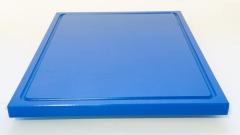 1xSchneidbrett Blau 50x30x2 cm.mit Saftrille Industriqualität
