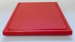 1xSchneidbrett Rot 50x30x2 cm.mit Saftrille Industriqualität