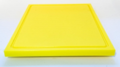 1xSchneidbrett Gelb 50x30x2 cm.mit Saftrille Industriqualität