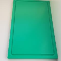 1xSchneidbrett Grün 50x30x2 cm.mit Saftrille Industriqualität