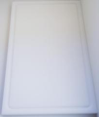 1xSchneidbrett Weiß 50x30x2 cm.mit Saftrille Industriqualität
