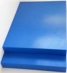 1x Schneidbrett40x30x4cm. aus Qualitätskunststoff Blau