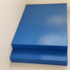 1x Schneidbrett50x30x4cm. aus Qualitätskunststoff  Blau