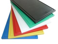 5x Schneidbretter aus Qualitätskunststoff 53x32,5x2 cm mit Saftrille
