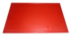 1x Schneidbrett aus Qualitätskunststoff 53x32,5x2 cm mit Saftrille