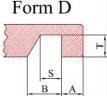 Hohlkehle einfräsen - Form D