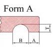 Hohlkehle einfräsen - Form A
