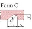 Hohlkehle einfräsen - Form C